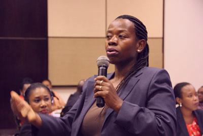 New Faces New Voices (NFNV) Chair Person, Monique Nzansabaganwa. Photo: Christian T. Mulumba/UN Women Rwanda