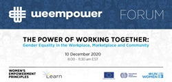 The Power of Working Together: Gender Equality in The Workplace, Marketplace and Community