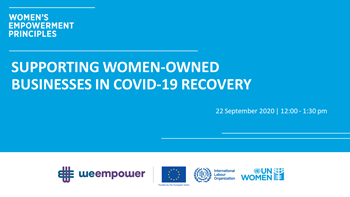 Supporting Women Owned Businesses in Covid-19 Recovery